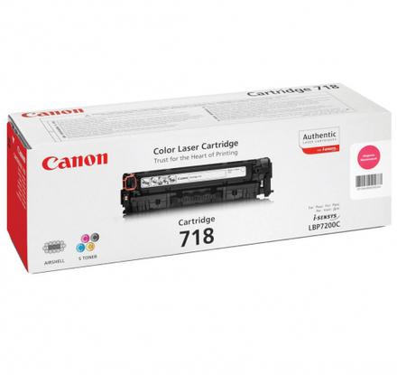 Картридж Canon 718 M (2660B002) пурпурный