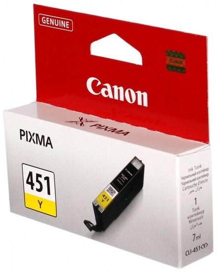 Картридж Canon CLI-451Y (6526B001) желтый