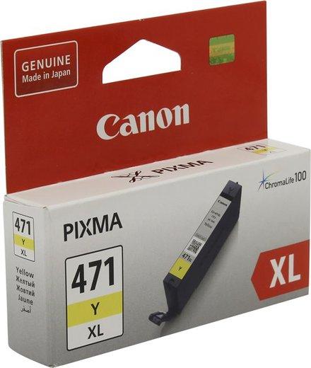Картридж Canon CLI-471Y XL (0349C001) желтый повышенной емкости