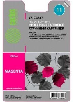 Картридж Cactus CS-C4837 №11 (пурпурный) совместимый с hp аналог hp 11 (C4837A)
