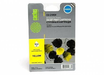 Картридж Cactus CS-C4909  № 940XL желтый совместимый с hp 940XL