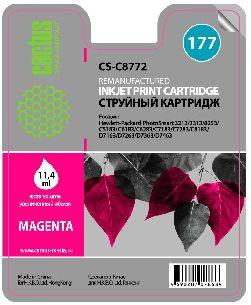 Картридж Cactus CS-C8772 №177 совместимый с hp аналог hp 177 пурпурный (C8772HE)