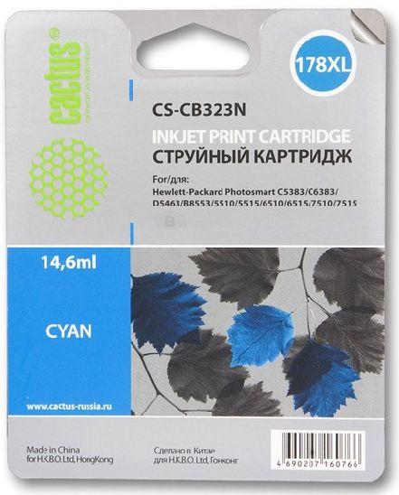 Картридж Cactus CS-CB323N 178XL голубой совместимый аналог hp 178XL