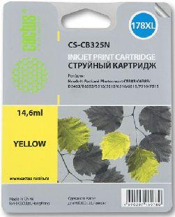 Картридж Cactus CS-CB325N 178XL желтый совместимый аналог hp 178XL