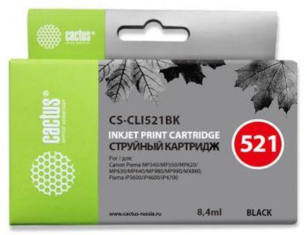 Картридж Cactus CS-CLI521BK черный для Canon