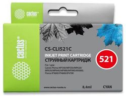 Картридж Cactus CS-CLI521C голубой для Canon