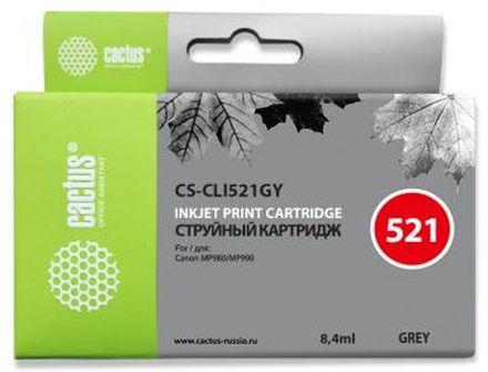 Картридж Cactus CS-CLI521GY серый для Canon