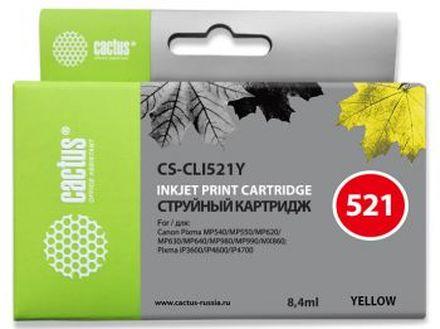 Картридж Cactus CS-CLI521Y желтый для Canon