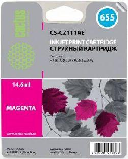 Картридж Cactus CS-CZ111AE пурпурный аналог картриджа hp 655 m
