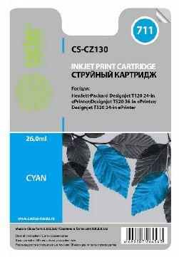 Картридж Cactus CS-CZ130 №711 (голубой) совместимый  с  hp аналог картриджа hp 711 c