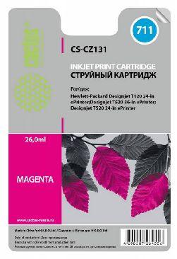 Картридж Cactus CS-CZ131 №711 пурпурный) совместимый  с  hp аналог картриджа hp 711 m