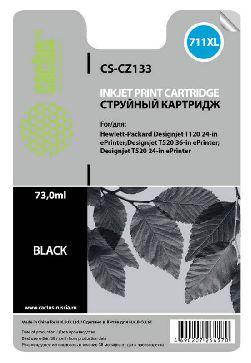 Картридж Cactus CS-CZ133 №711XL (черный) совместимый с hp аналог картриджа hp 711XL bk