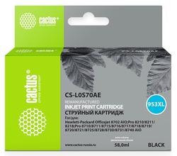 Картридж Cactus CS-L0S70AE №953XL черный повышенной емкости аналог картриджа hp 953XL (L0S70AE)