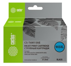 Картридж Cactus CS-T6M15AE №903XL черный совместимый аналог картриджа hp 903XL (T6M15AE)