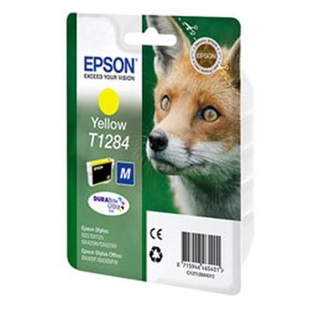 Картридж Epson T1284 (C13T12844011/C13T12844012) желтый