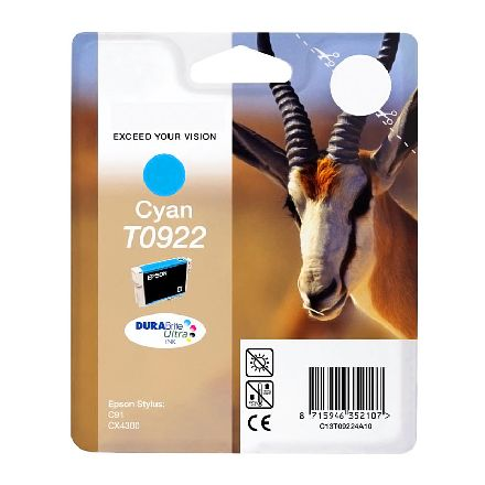 Картридж Epson T0922 голубой