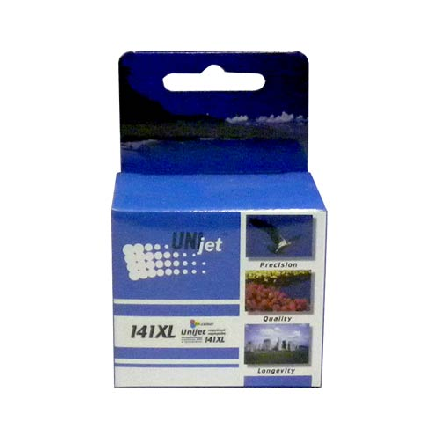 Картридж UNIjet 141XL (CB338HE) цветной повышенной емкости совместимый аналог hp 141XL