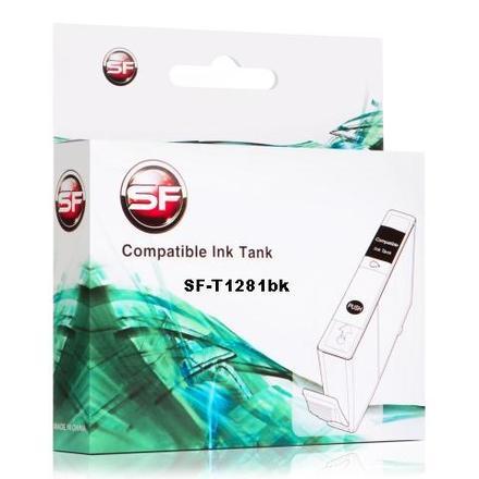 Картридж SuperFine SF-T1281bk черный для Epson