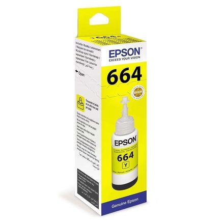 Контейнер с желтыми чернилами Epson 664 (T66444A/C13T66444A)